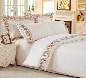 KOSMOS Vintage embroidery floral pattern bed sheet set