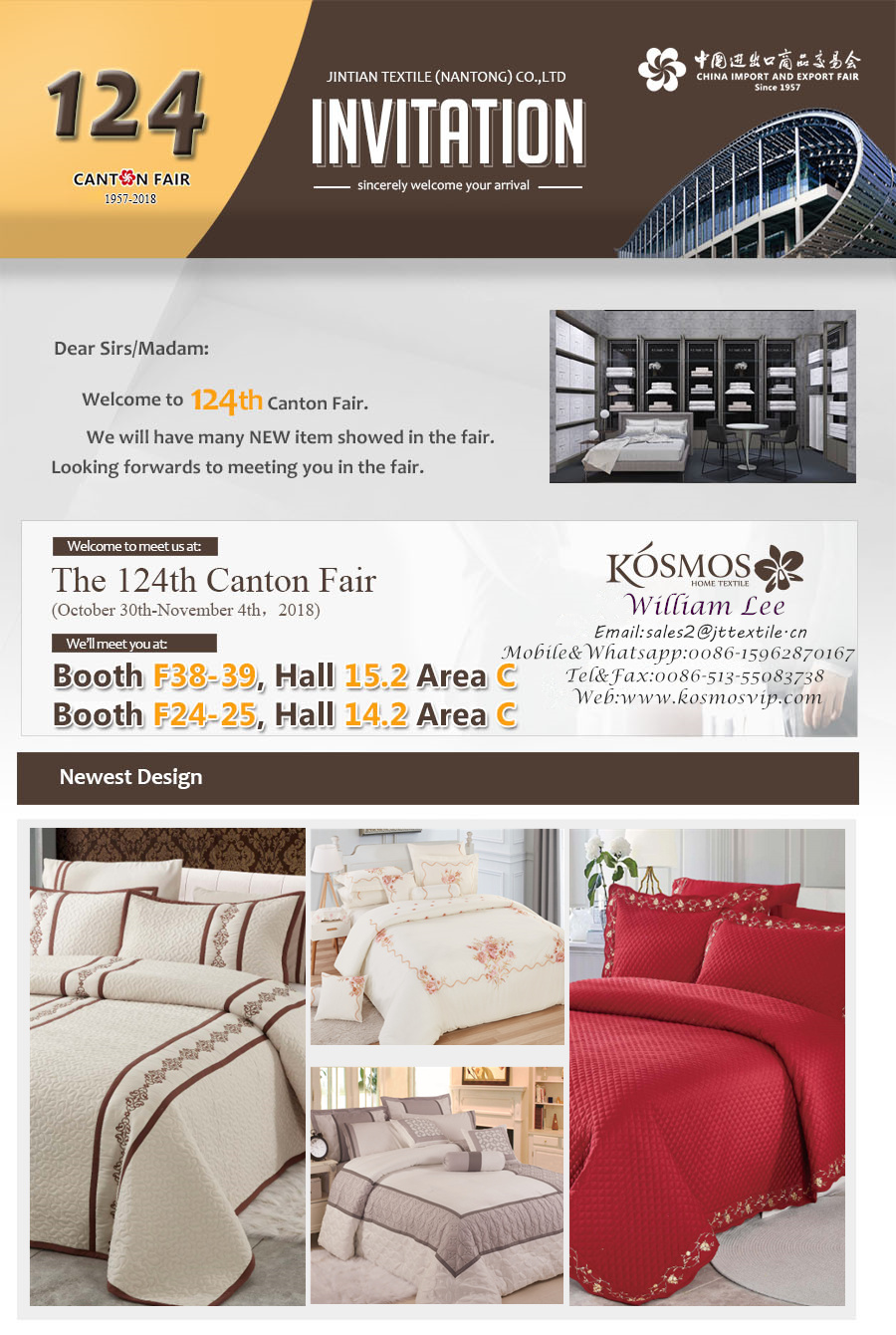 KOSMOS-Invitation for the 124th Canton Fair